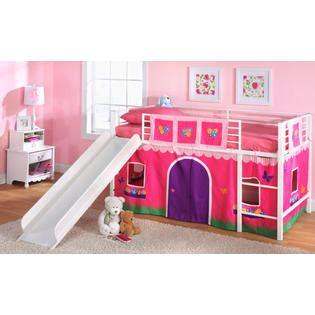 kmart kids bed essential home slumber n slide loft bed make bedtime fun