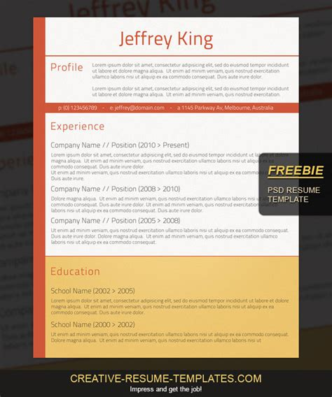 fancy resume templates free best free resume templates around the web