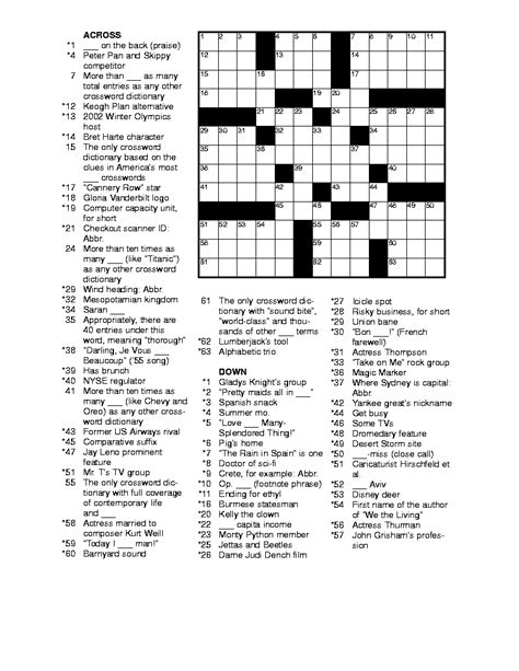 printable games for young adults free printable easy crossword puzzles health symptoms