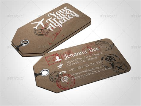 travel business card template with wavy designs travel tag business card template by freshinkstain
