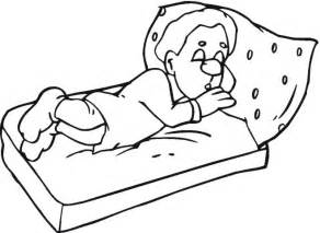 sleeping coloring page free coloring pages
