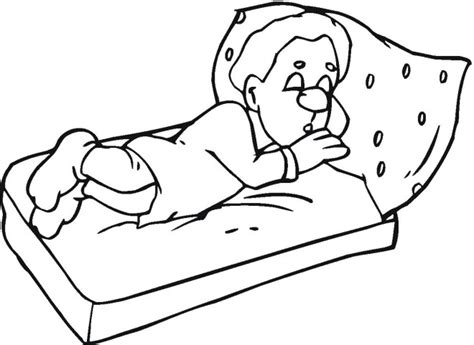 sleeping coloring free coloring pages