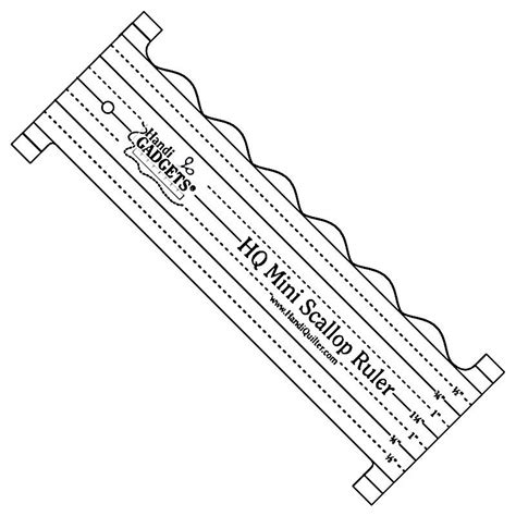 arm quilting templates rulers handi quilter hq mini scallop ruler template 8 quot x3 quot mid arm
