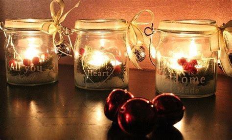 immagini candele natale decorazioni decorazioni natale fai da te le candele in vaso in
