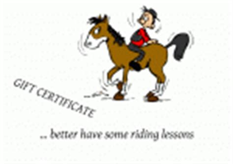 Riding Lessons Templates For Gift Certificates And Voucher Horseback Lesson Gift Certificate Template