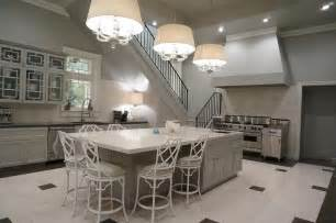 Counter Stools For Kitchen Island by Gray Kitchen Island With White Bamboo Counter Stools