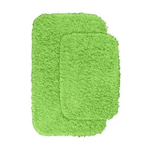 Green Bathroom Rugs by Garland Rug Jazz Lime Green 21 In X 34 In Washable Bathroom 2 Rug Set Ben 2pc 12 The