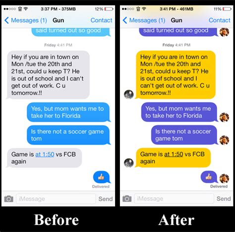 sms themes for iphone 6 messages customiser customize the stock messaging app in