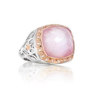 tacori sterling silver gemstone rings sr103p25
