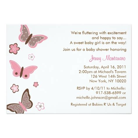 trendy baby shower trendy pink butterfly baby shower invitations zazzle