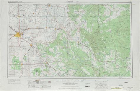 topo maps texas lubbock topographic maps tx usgs topo 33100a1 at 1 250 000 scale