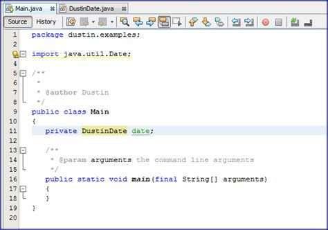 java util date netbeans 7 2 generating introduce local extensions