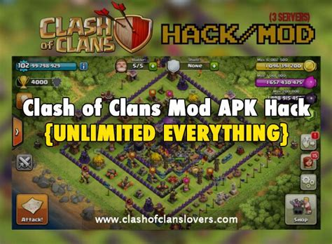 download game coc mod apk th11 unlimited everything clash of clans mod apk hack latest