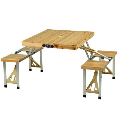 Folding Wooden Picnic Table Picnic At Ascot Portable Folding Wooden Outdoor Picnic Table With 4 Seats