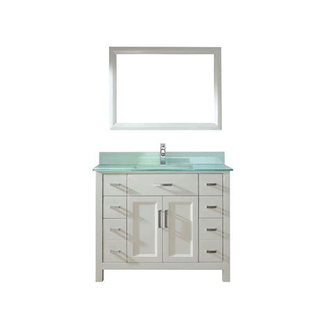 Studio Bathe Vanity by Studio Bathe 42 In Vanity In White With Glass