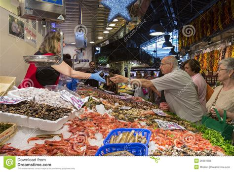 St Joes Food Marketing Mba by Barcelona St Joseph Food Market Spain Editorial Stock