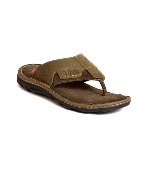 leecooper slippers cooper olive green slippers price in india