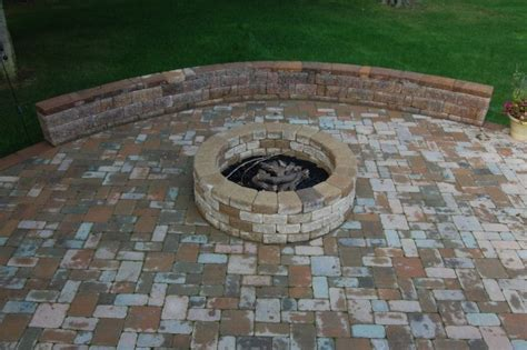 backyard brick fire pit brick outdoor fire pit designs