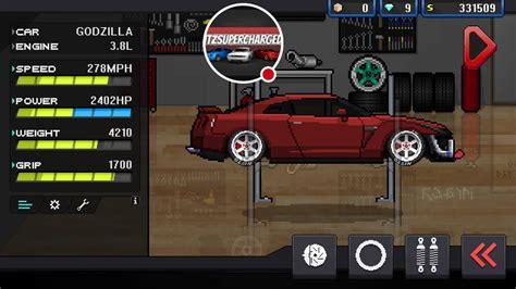 pixel car racer pixel car racer 2000 hp gtr youtube