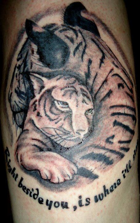 tiger cub tattoo designs tigress and cub for a right beside you is