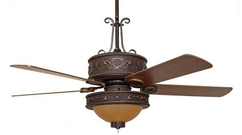 Western Ceiling Fans Cc Kwst Lk515amb Western Star Ceiling Fan With Light Kit
