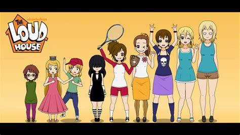 anime house the loud house anime style youtube