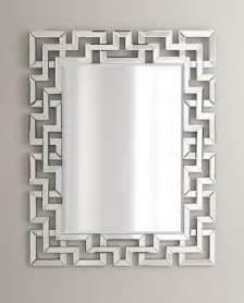 Decorative Key Cabinet Greek Key Mirror Modern Wall Mirrors By Neiman Marcus