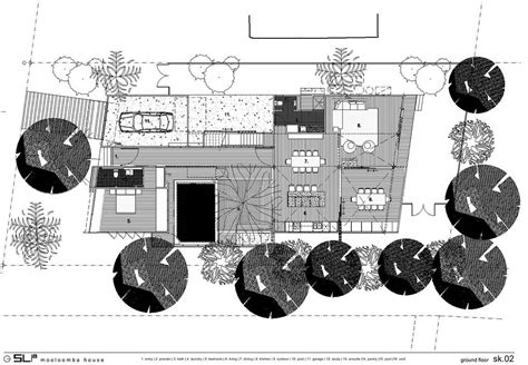 Ground Floor Plan, Park House, Queensland, Australia by