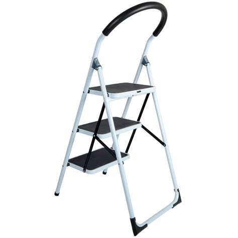Kitchen Stool And Step Ladder by Step Ladders 3 Tread Strong Steel Non Slip Folding Step