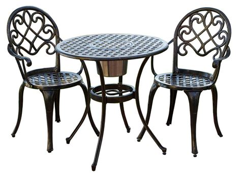 3 Pc Outdoor Bistro Furniture Set In Brown Walmart Com Patio Table And 2 Chairs
