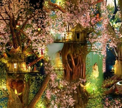 Elvish Home Decor tree houses girls elfs tree magic anime cute
