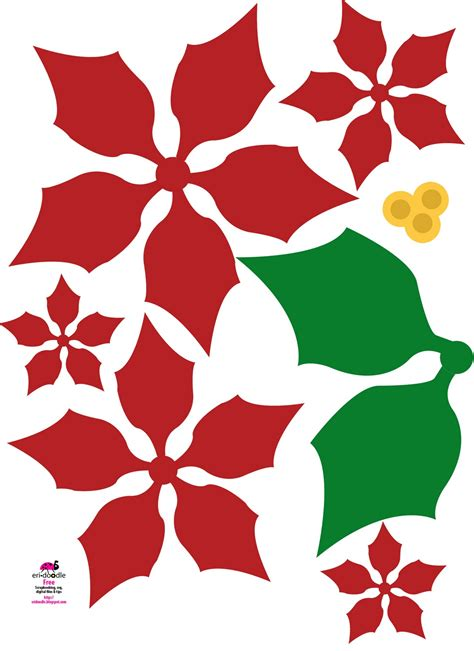 Poinsettia Paper Craft - eri doodle designs and creations make a paper