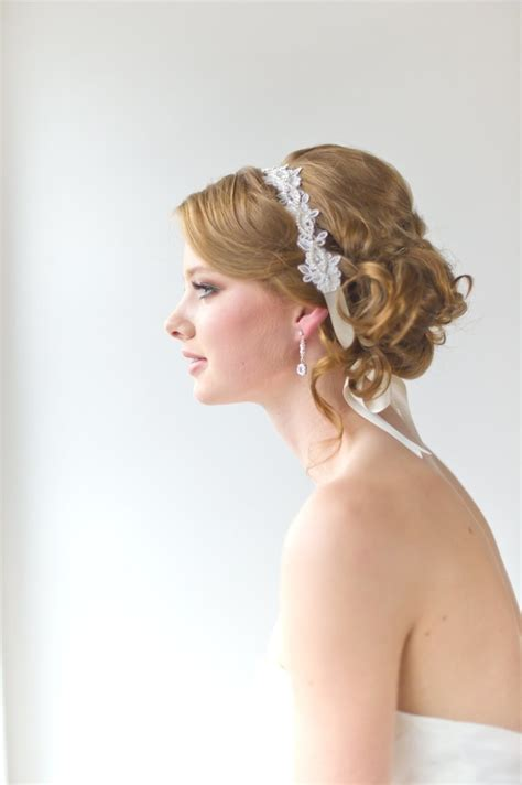 hairstyles with ribbon headband 38 best images about wedding hair on pinterest