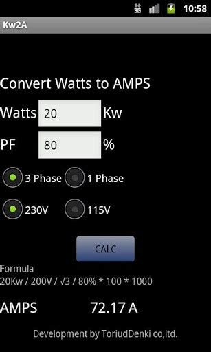 motor s calculator convert watts to s for android appszoom