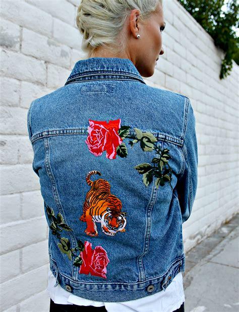 Patched Denim Jacket diy patched denim jacket