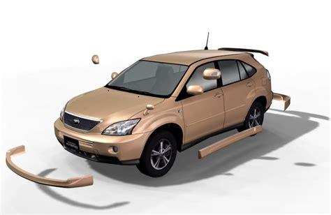 harrier lexus new model 3d model toyota harrier hybrid