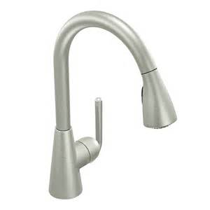 Moen Pullout Kitchen Faucet by Moen S71708 Ascent Single Handle Pull Down Sprayer Kitchen