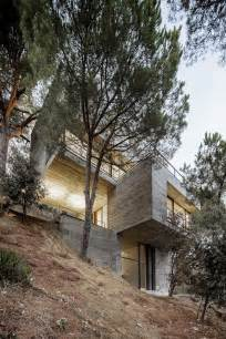 Houses Built On Slopes by Steep Slope House Design Goes Vertical Just Like Trees