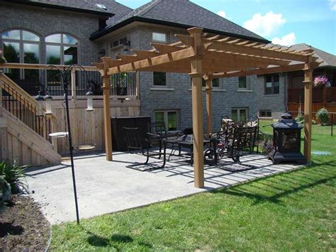 how to build a pergola on concrete decorative sted concrete patio with pergola traditional patio by lester contracting