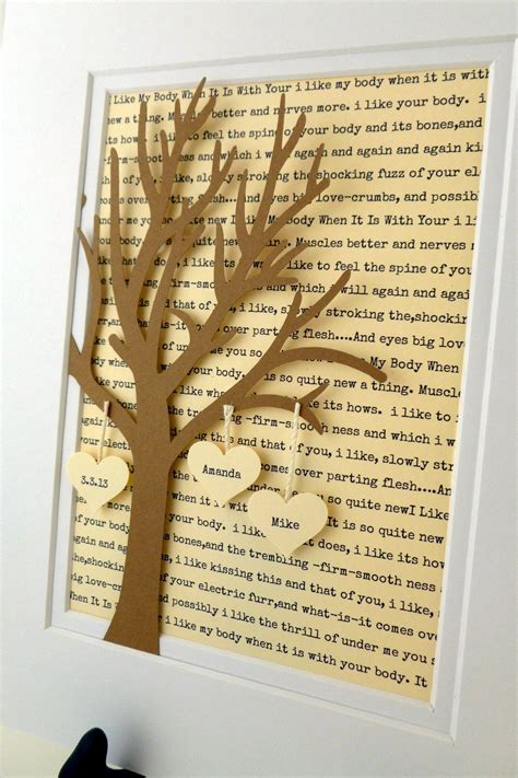 personalized anniversary wedding gift 3d paper tree with