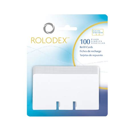 rolodex card template free rolodex 2 1 4 quot x 4 quot refill plain refills and accessories