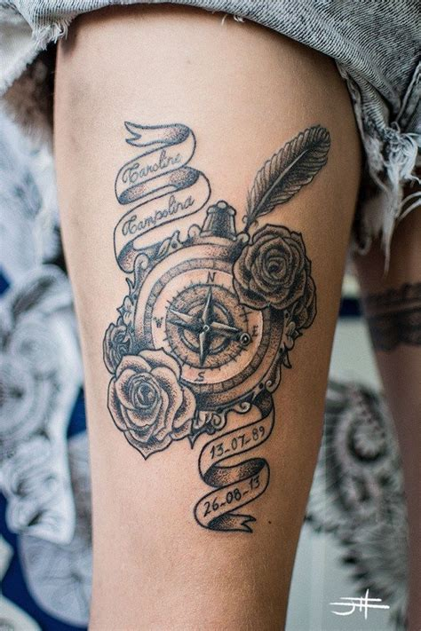 17 Best Images About Tattoos On Pinterest Watercolour Tatto Bussola