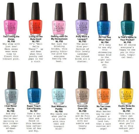 opi nail color names opi fiji 2017 summer collection nails