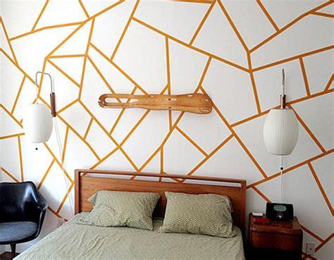 Cool Armchair Geometric Wallpaper In 10 Bold Bedroom Ideas