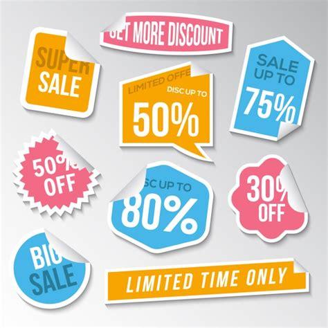 coleccion de etiquetas de oferta descargar vectores gratis