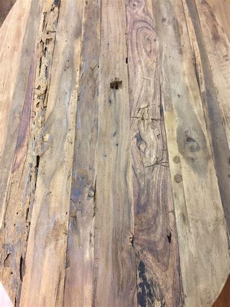 ovale salontafel teak ovale salontafel verweerd oud hout staal