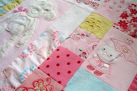 How To Make Patchwork Quilt From Baby Clothes - signature mosaic baby clothes memory quilt patchwork castle