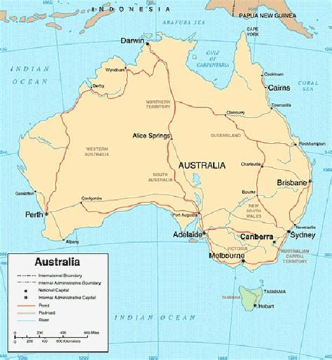 in austrailia australia map
