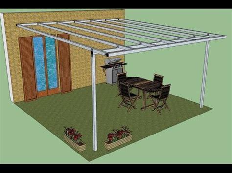costruire tettoia in ferro pergola in ferro addossata montaggio fotografico