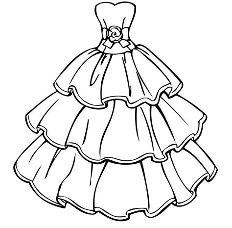 barbie dress coloring page barbie dress coloring page for girls new dress coloring